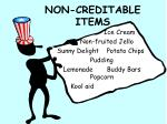 non creditable items