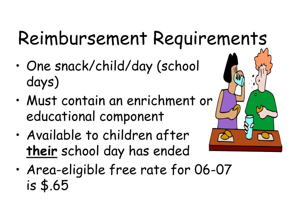 Reimbursement Requirements