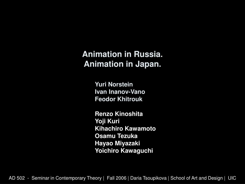 animation in russia animation in japan l.