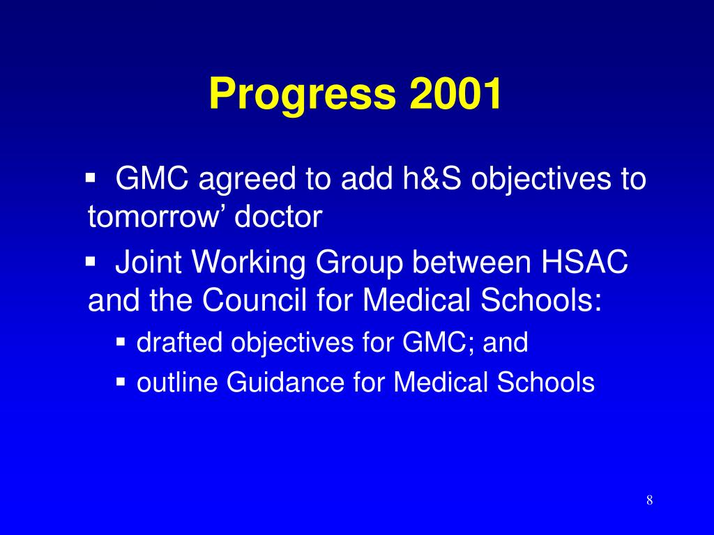 Progress 2001