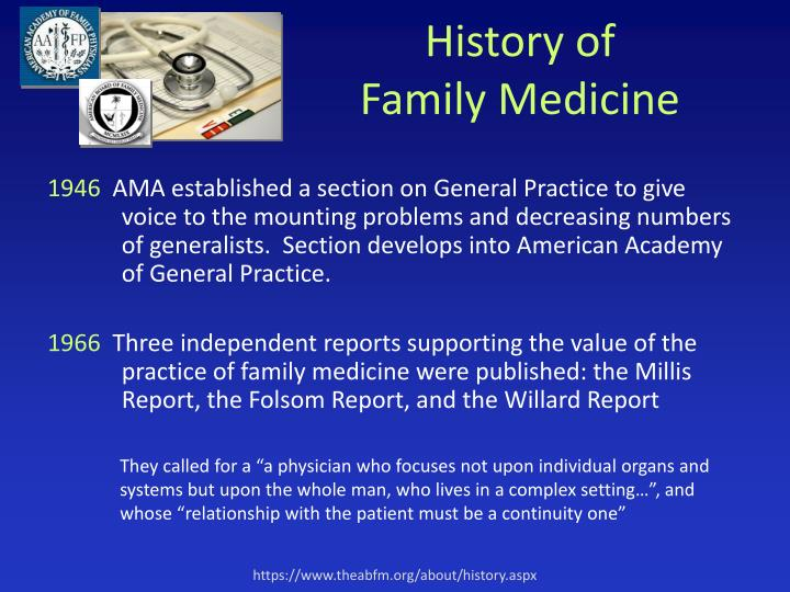 History of family medicine