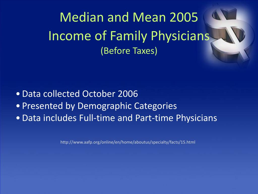 Median and Mean 2005