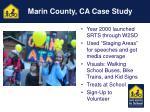 marin county ca case study