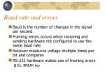 baud rate and errors