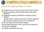 leased analog data circuits