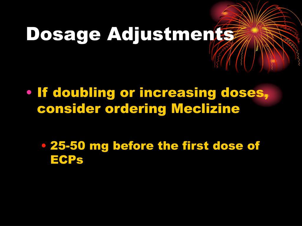 Dosage Adjustments