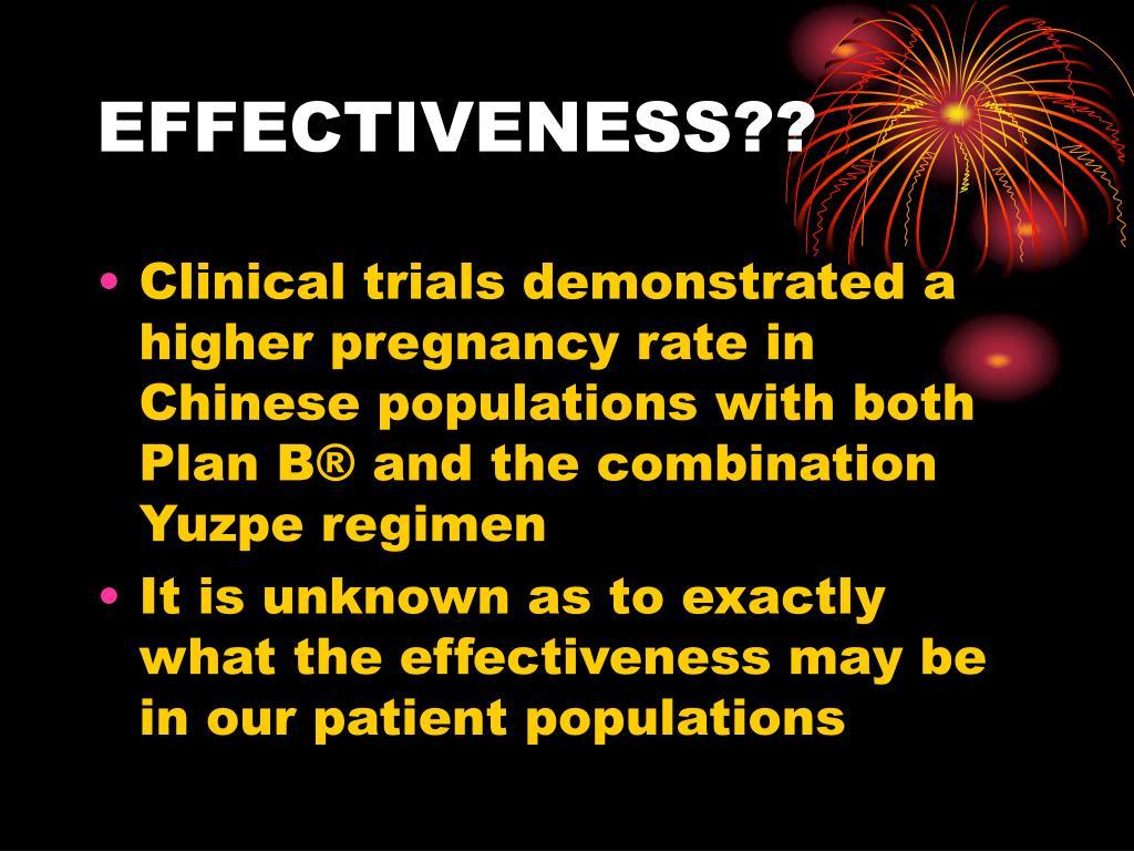 EFFECTIVENESS??