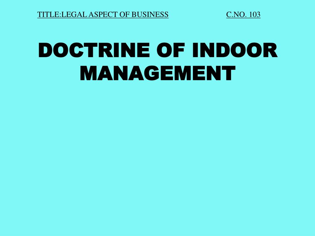 TITLE:LEGAL ASPECT OF BUSINESS