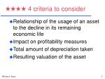 4 criteria to consider