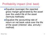 profitability impact 2nd best