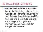 st line db hybrid method