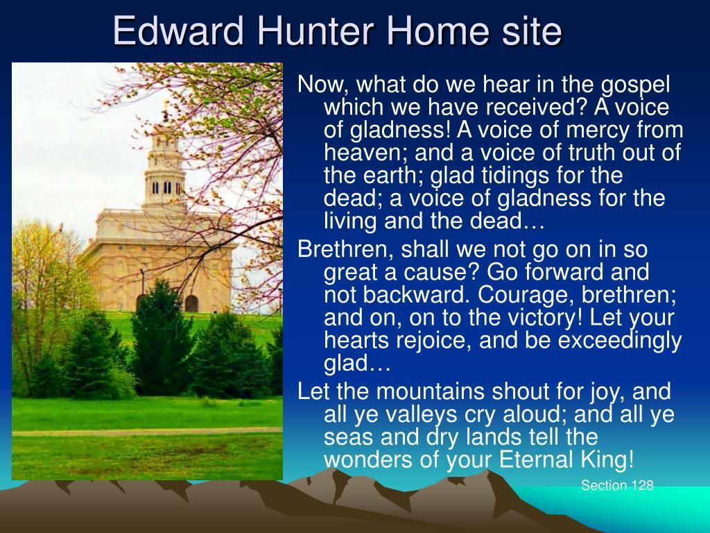 Edward Hunter Home site