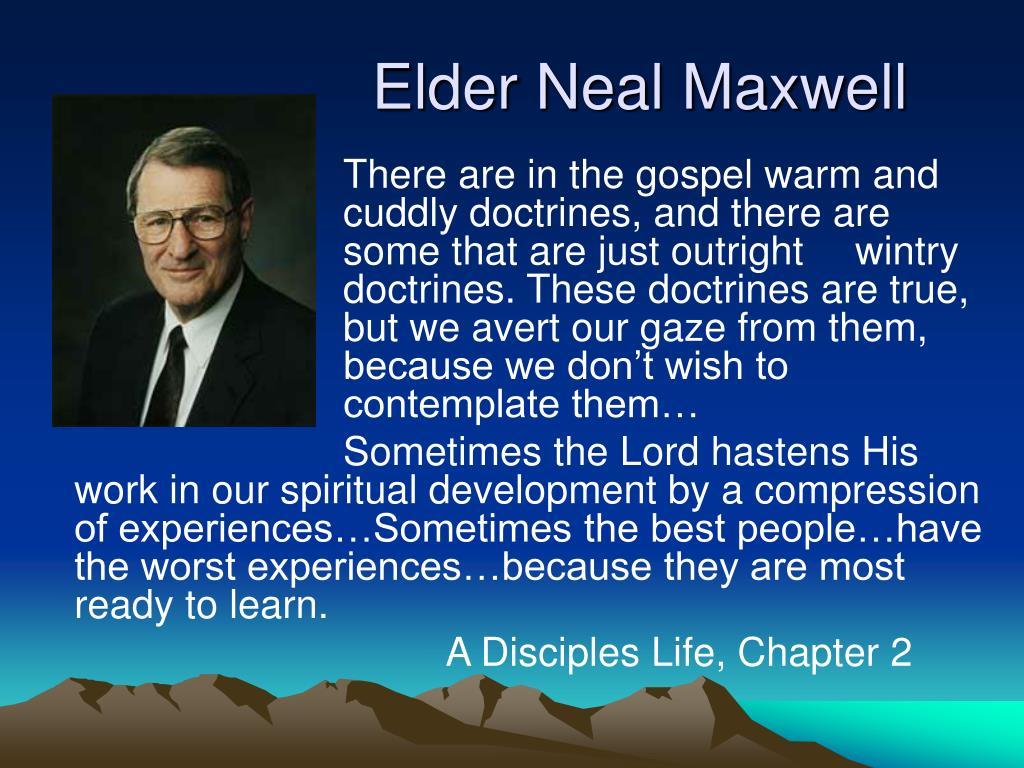 Elder Neal Maxwell