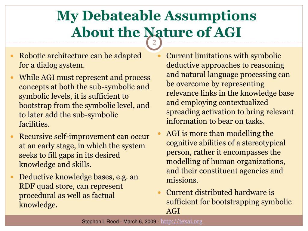 My Debateable Assumptions