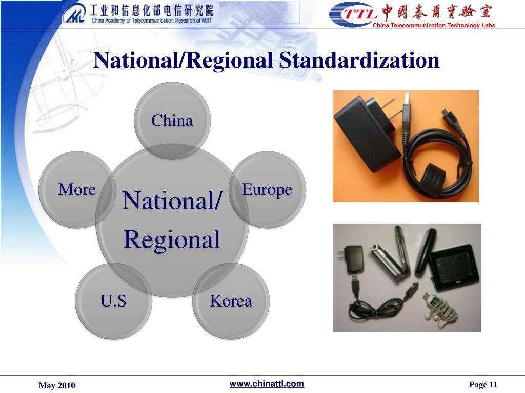 National/Regional Standardization