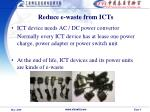 reduce e waste from icts
