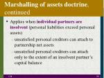marshalling of assets doctrine continued