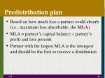 predistribution plan