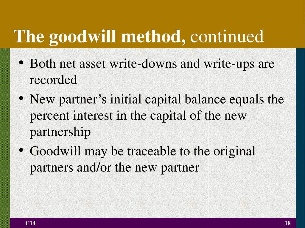 The goodwill method,