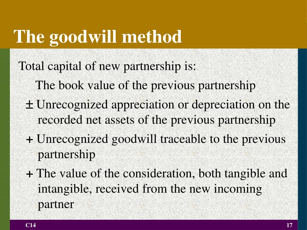 The goodwill method