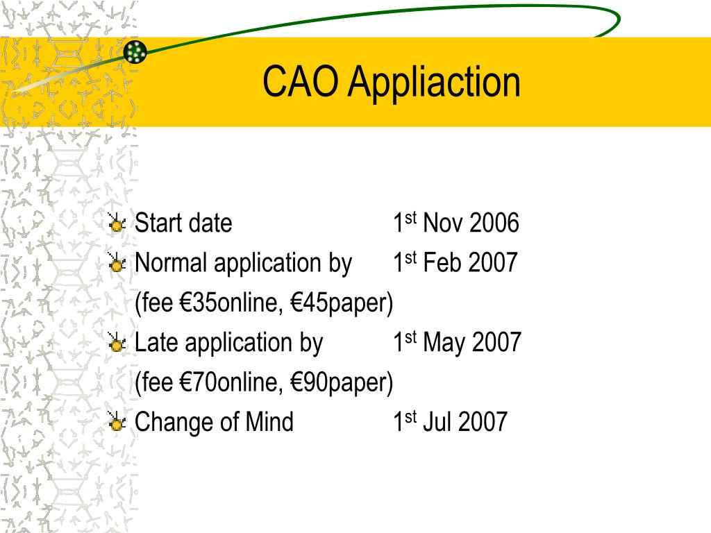 CAO Appliaction