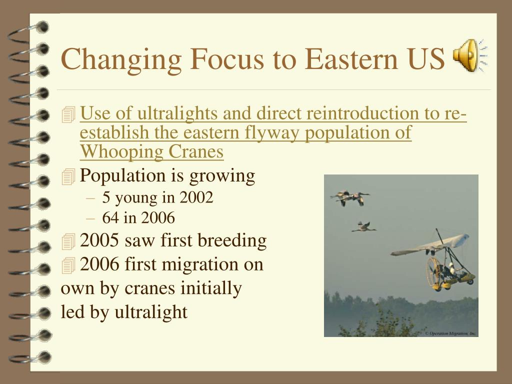Changing Focus to Eastern US