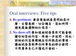 oral interviews five tips1