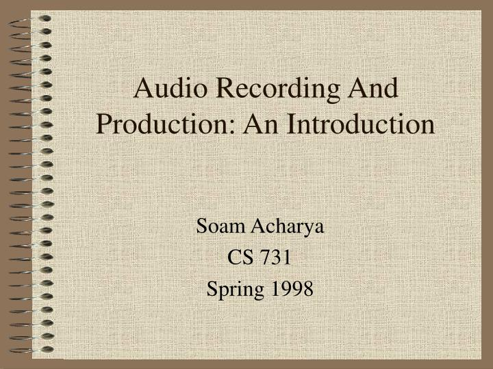 audio recording and production an introduction n.
