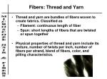fibers thread and yarn