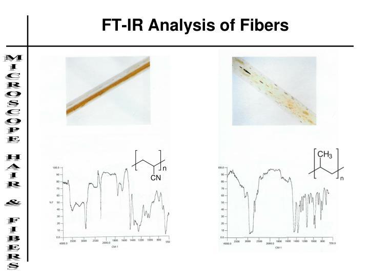 FT-IR Analysis of Fibers