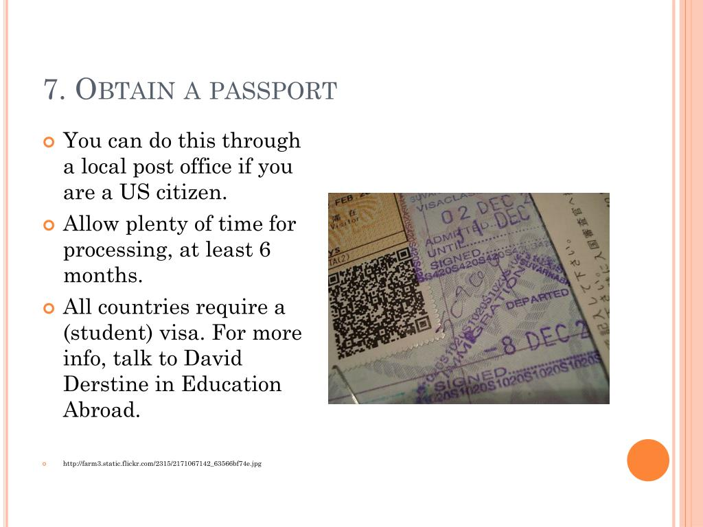 7. Obtain a passport