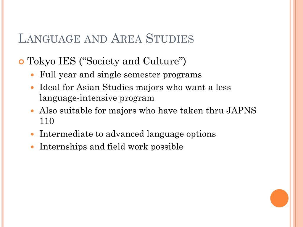 Language and Area Studies