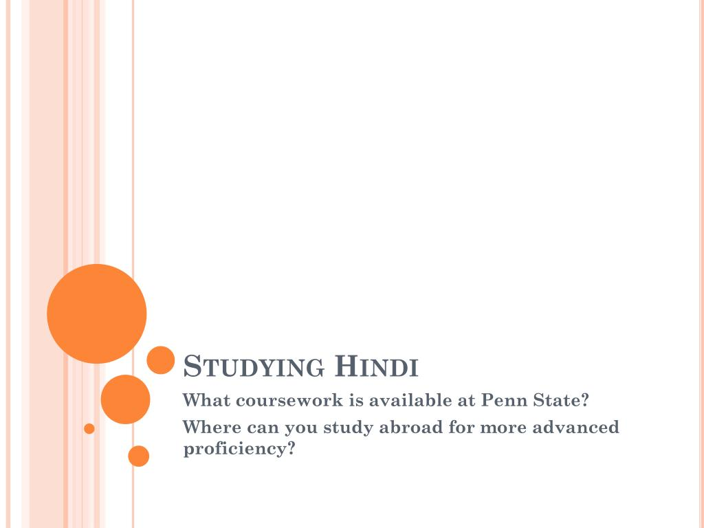 Studying Hindi