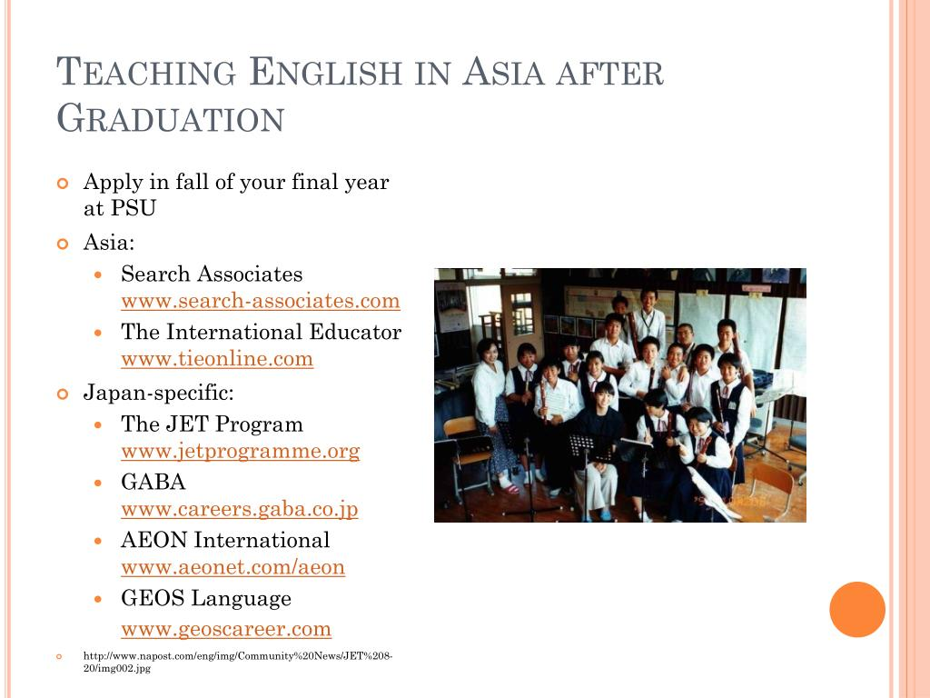Teaching English in Asia after Graduation