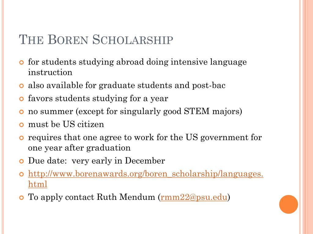 The Boren Scholarship