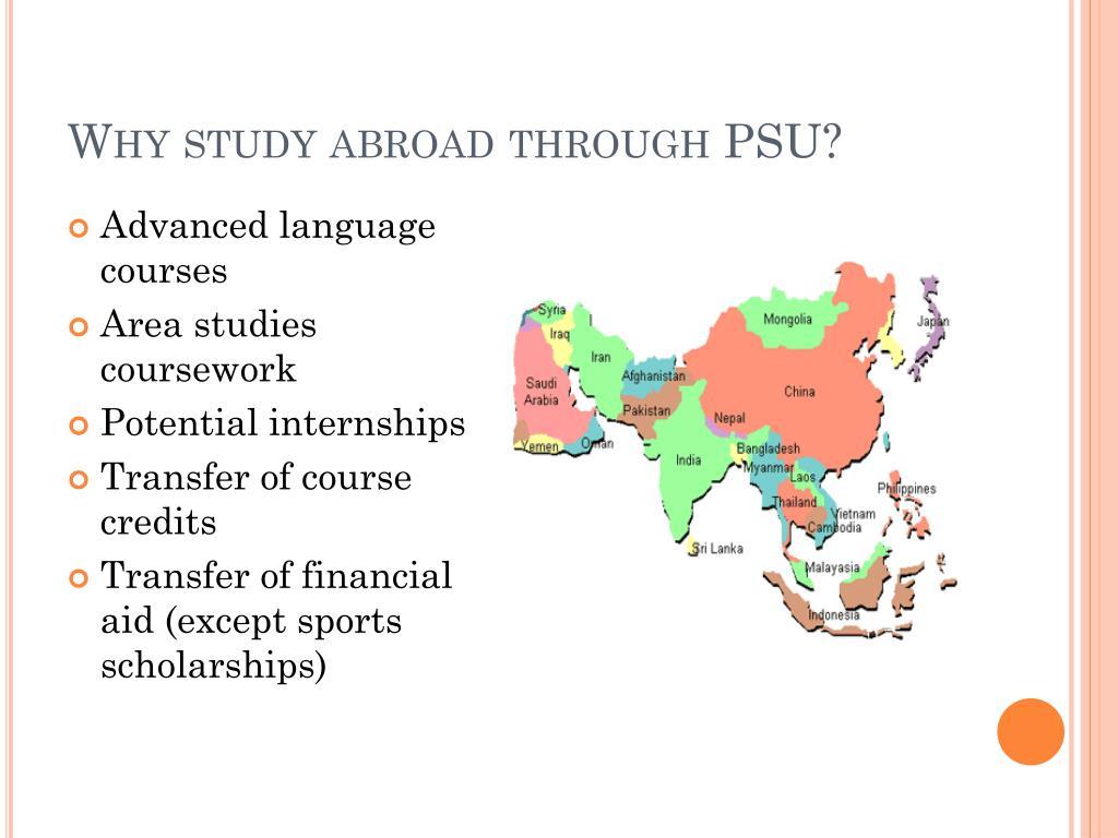 Why study abroad through PSU?