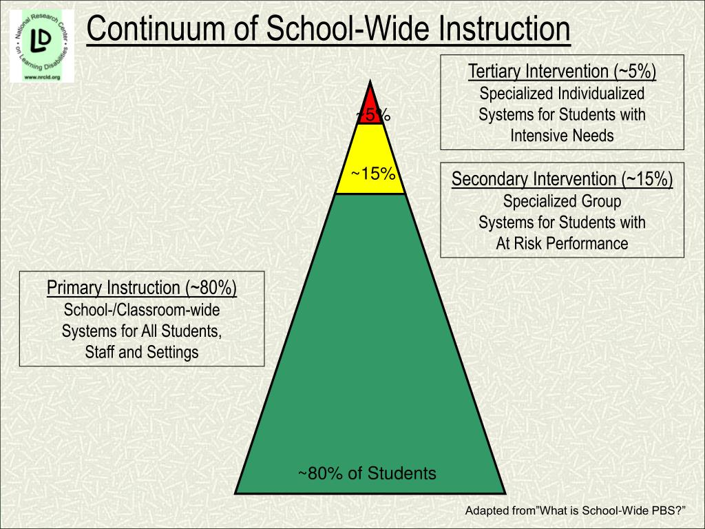Continuum of School-Wide Instruction