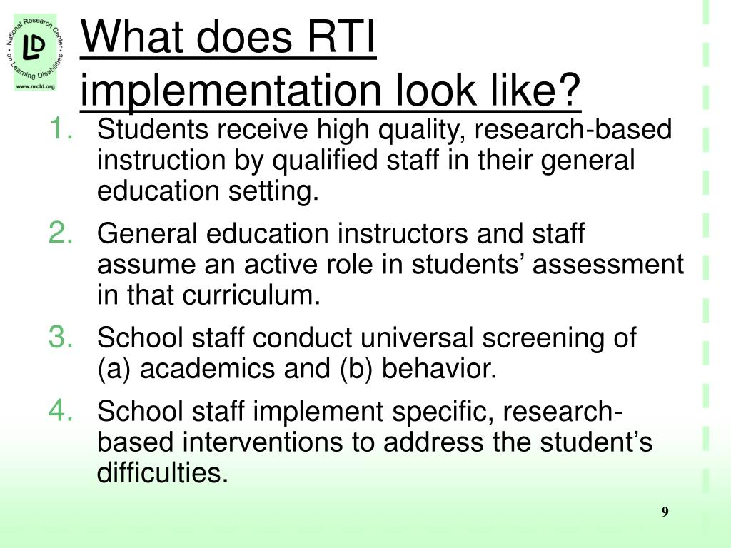 What does RTI implementation look like?