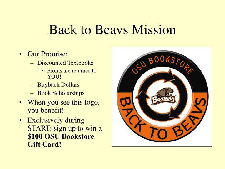 Back to Beavs Mission