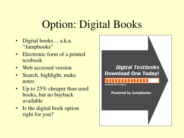 Option: Digital Books