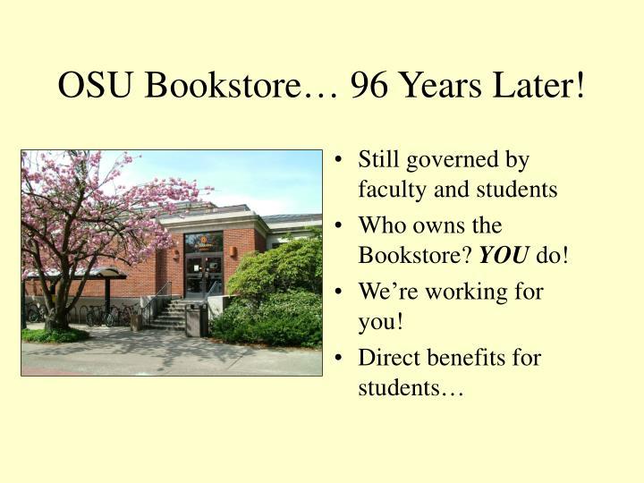 OSU Bookstore… 96 Years Later!