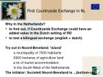 first countryside exchange in nl