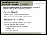 individualized and performance based education