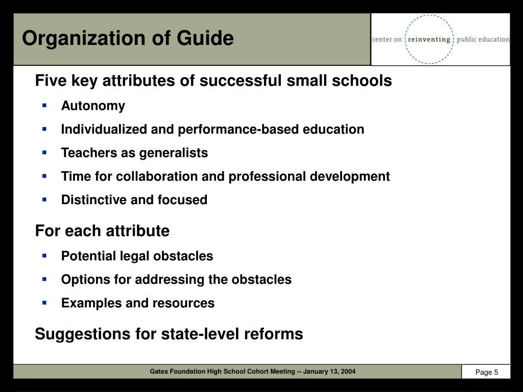 Organization of Guide