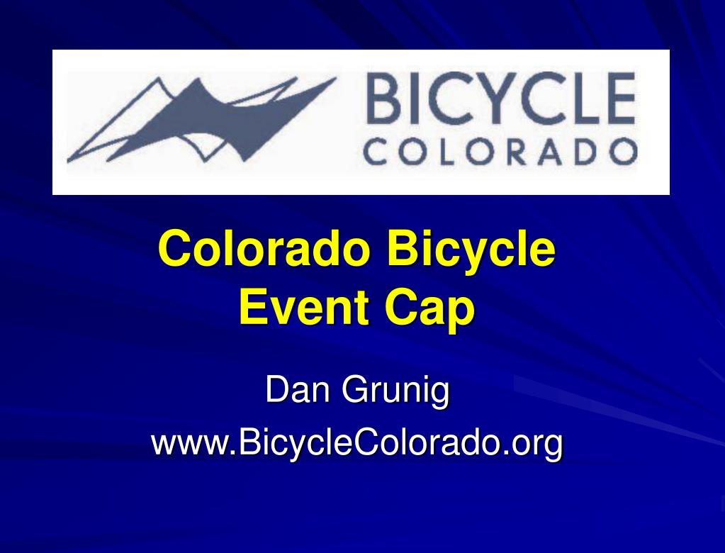 colorado bicycle event cap l.