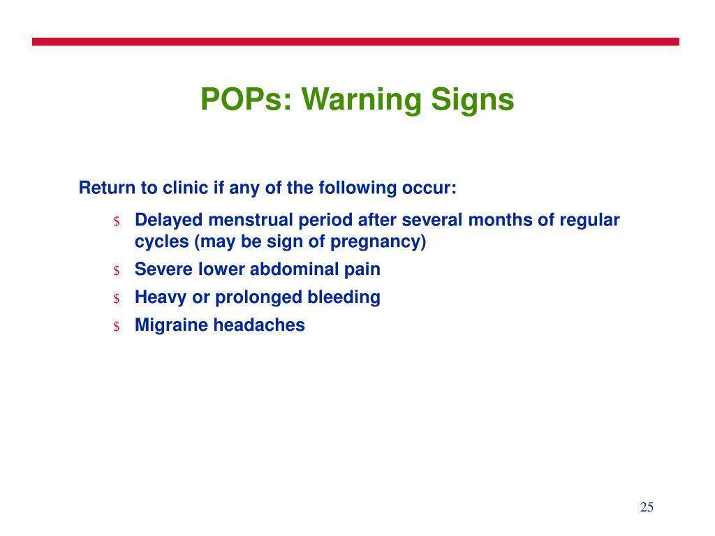 POPs: Warning Signs