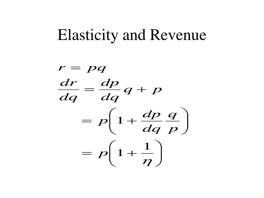 Elasticity and Revenue