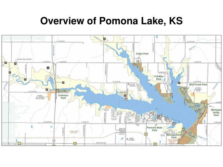 Overview of Pomona Lake, KS