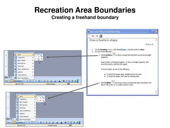 Recreation Area Boundaries