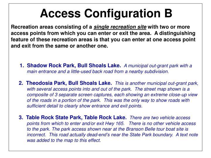 Access Configuration B